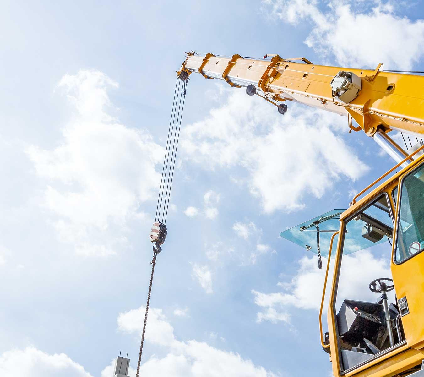 vente des matériels chantiers neufs à Borgo - Corse Grues Service